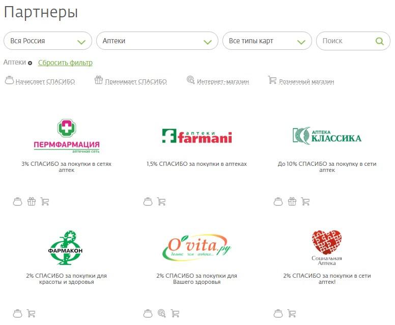Аптеки в которых можно расплатиться бонусами от Сбербанка